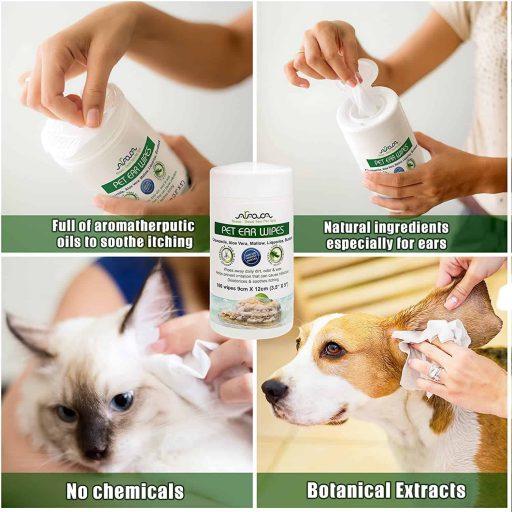 Hypoallergenic Pet Ear Wipes