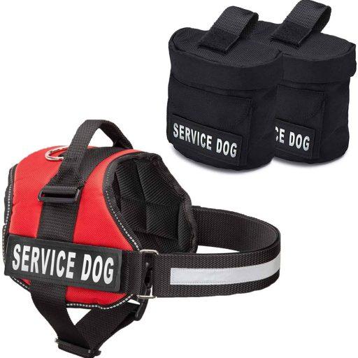 Puppy Service Dog Vest with Detachable Bags
