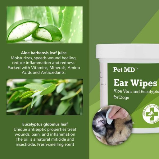 Pet MD - Dog Ear Cleaner Wipes