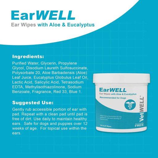 VetWELL Dog Ear Wipes